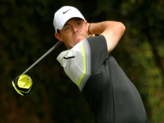 Rory McIlroy of Northern Ireland watches his drive off the second tee during third round play of the Masters golf tournament at the Augusta National Golf Course in Augusta, Georgia April 11, 2015. REUTERS/Mark Blinch