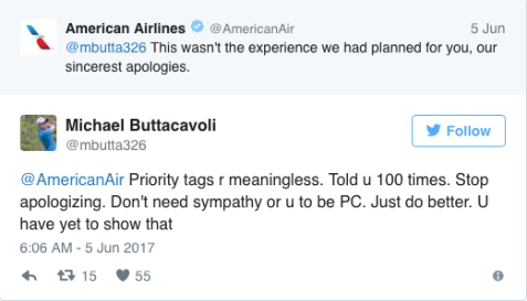 michael buttacavoli's american airlines interaction 2
