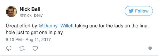 screenshot of nick bell's tweet